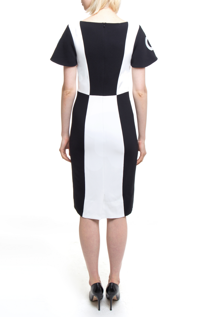 Black and White Geo Dress