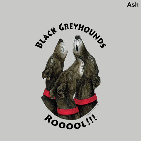 Adult Crewneck Sweatshirt - Design: Black Greyhounds Rooool!!!