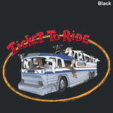Adult (Unisex) T-Shirt - Design: Ticket To Ride