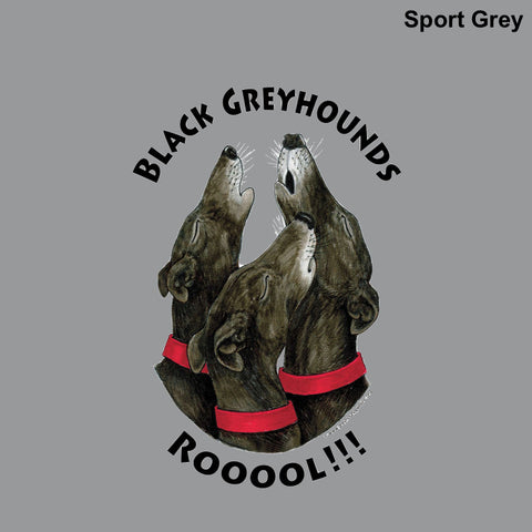 Adult Tall T-Shirt - Design: Black Greyhounds Rooool!!!