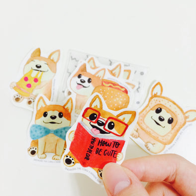 Sneakers the Corgi Mini Sticker 5-Pack