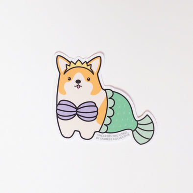 Sneakers the Corgi Vinyl Sticker: MerCorg