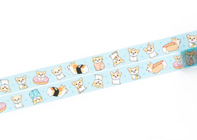 Sneakers the Corgi Washi Tape: Food Theme