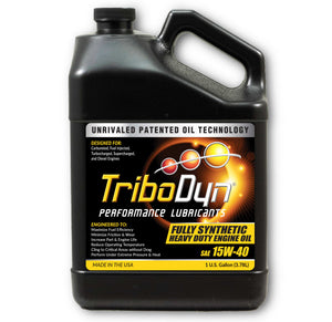 TriboDyn 15W-40 Fully Synthetic Heavy Duty Engine Oil - 1 Gallon (3.78 Liter)