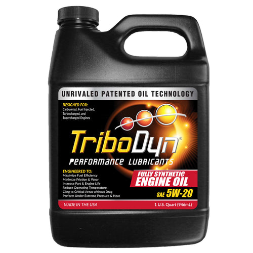 TriboDyn 5W-20 Fully Synthetic Engine Oil - 1 Quart (946mL)
