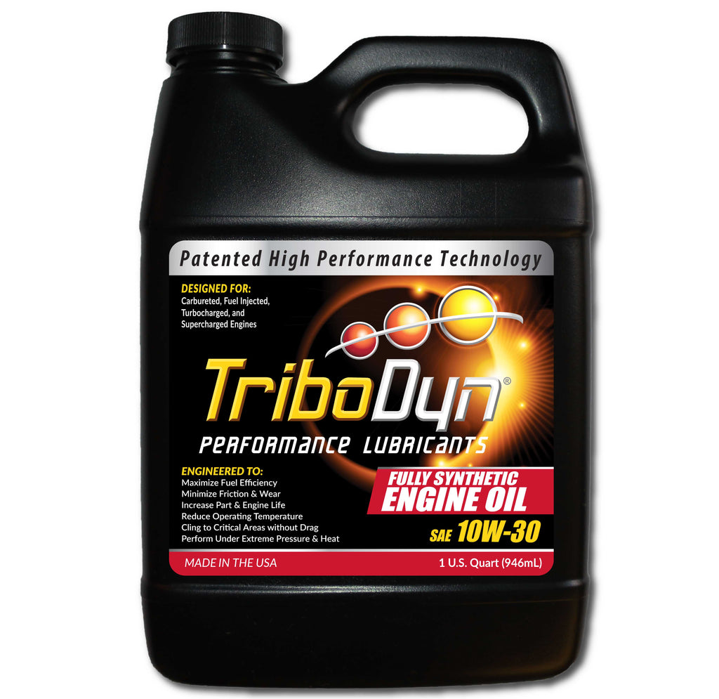 TriboDyn 10W-30 Fully Synthetic Engine Oil - 1 Quart (946mL)