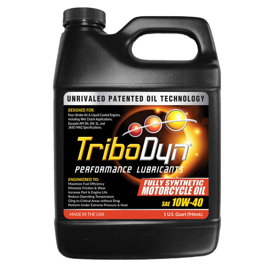 TriboDyn 10W-40 Fully Synthetic Motorcycle Oil - 1 Quart (946mL)