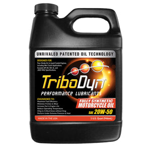TriboDyn 20W-50 Fully Synthetic Motorcycle Oil - 1 Quart (946mL)