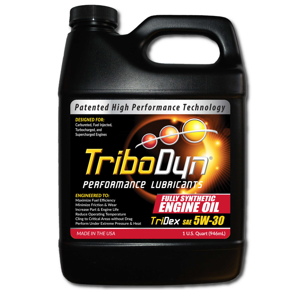 TriboDyn TriDex 5W-30 Full Synthetic Engine Oil (meets or exceeds GM dexos 1® specifications)