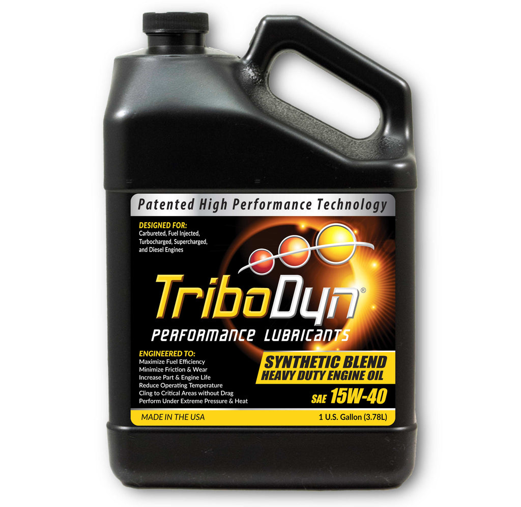 TriboDyn 15W-40 Synthetic Blend Heavy Duty Engine Oil - 1 Gallon (3.78 Liter)