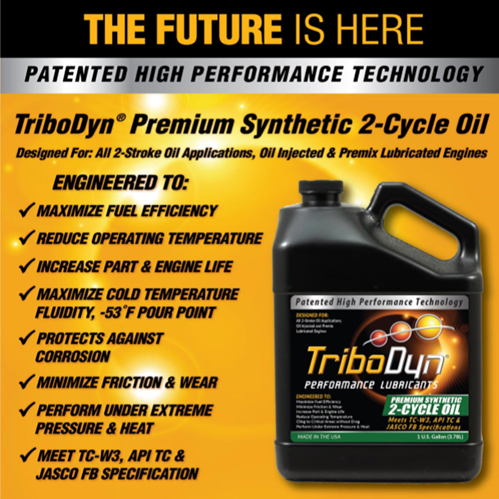 TriboDyn 2-Cycle Premium Synthetic Engine Oil- 1 Gallon (3.78Liter)