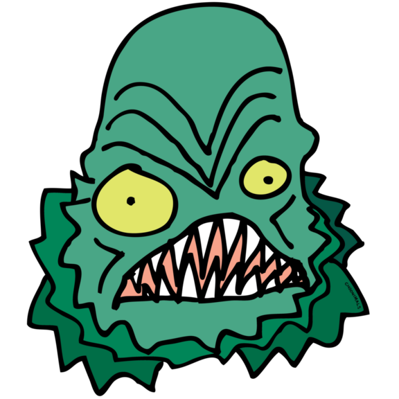 CREATURE FROM THE CHOON LAGOON STICKER