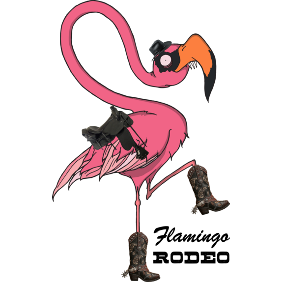FLAMINGO RODEO STICKER