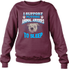 Stop Animal Abuse - Sweatshirt - maroon