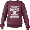 Zombie Chihuahua Sweatshirt - True Best Friend
