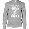 Zombie Pit Bull - Long Sleeve - True Best Friend
