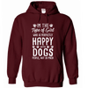 Girl Happy With Dogs Hoodie