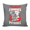 Pillow Cover - Zombies Pitbull