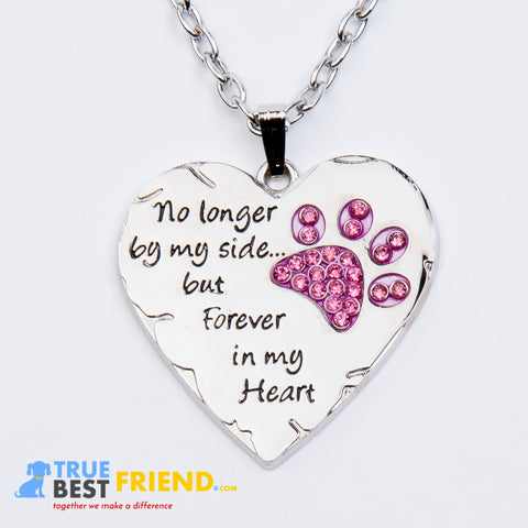 Paw prints forever in my heart necklace aloadofball Choice Image