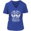 Forgot To Tell My Heart How To go On (Ladies V-neck) - True Best Friend
