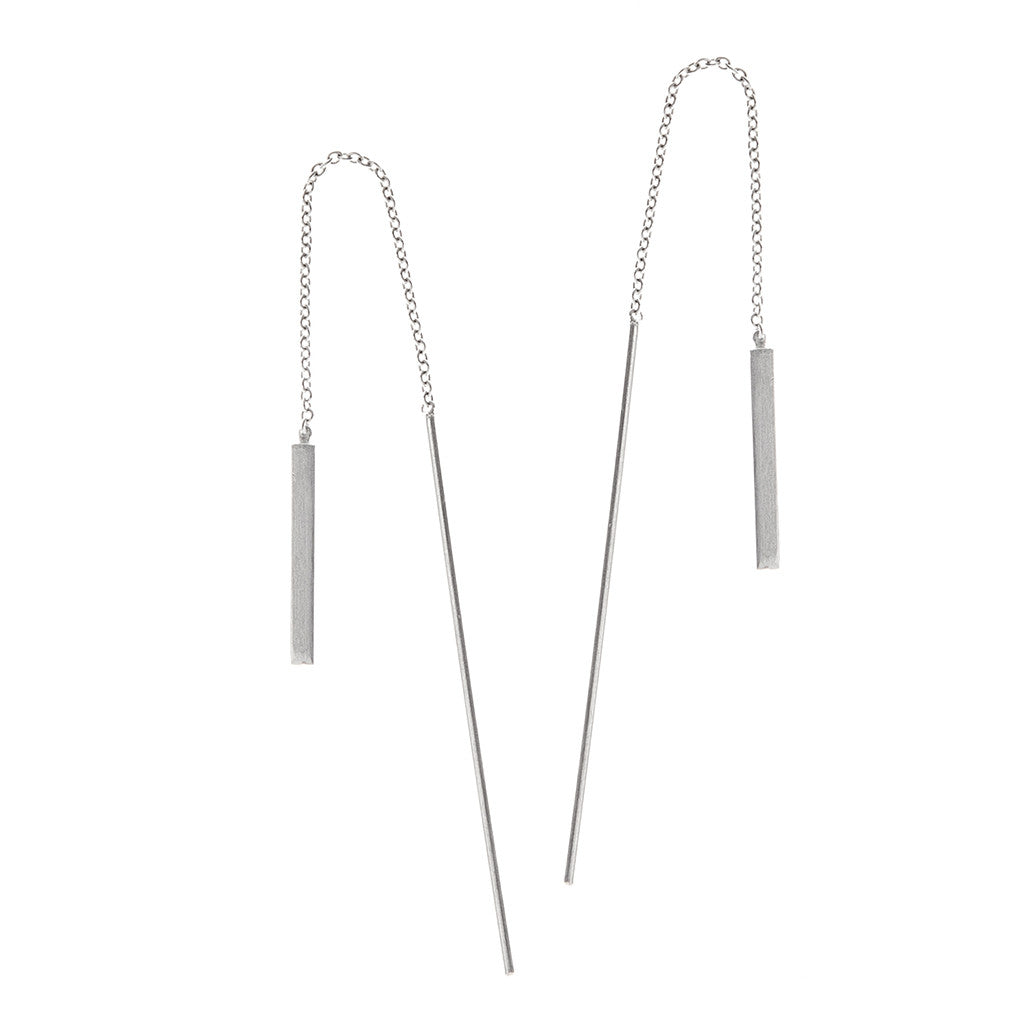 Short Box Pullthrough Earrings