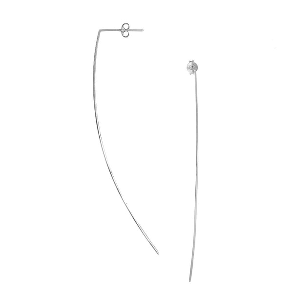 Arc Earrings, Silver