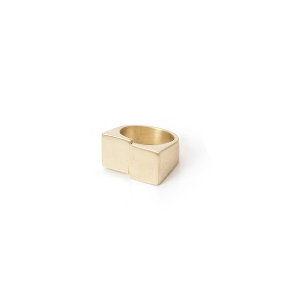 Duality Ring in brass