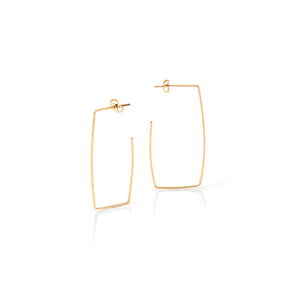 Square Hoop Earrings gold filled