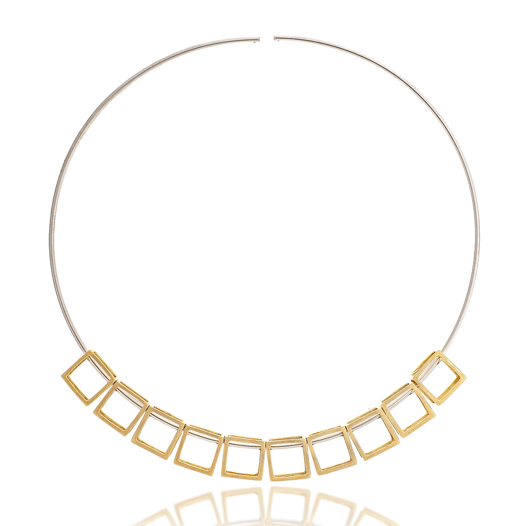Multi Cube Choker Necklace