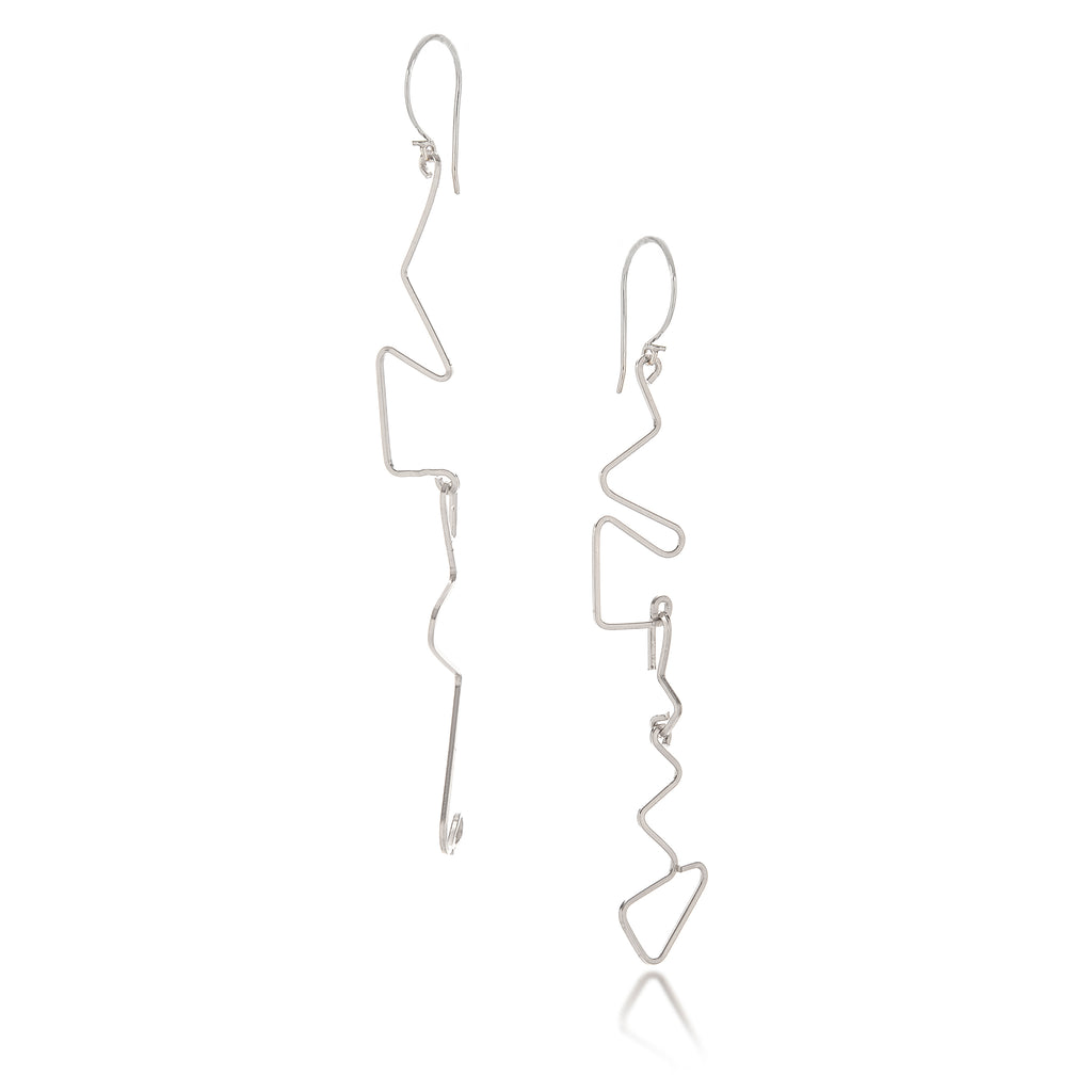 Miro Miro Earrings, Silver