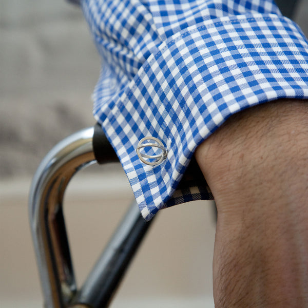 Sphere Cufflinks on Man