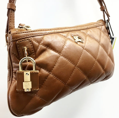 Burberry Quilted Leather Small Shoulder Bag With Lock and Key. Rank 3