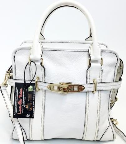 Burberry White Pebbled Leather Two Way Shoulder Bag No. ITEFFSRL814FIF