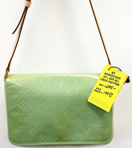 Louis Vuitton Green Vernis Thompson Street Shoulder Bag BA0948