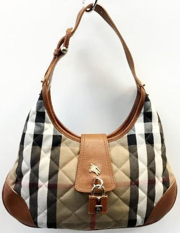 Burberry Quilted House Check Small Brooke Handbag Rank 4