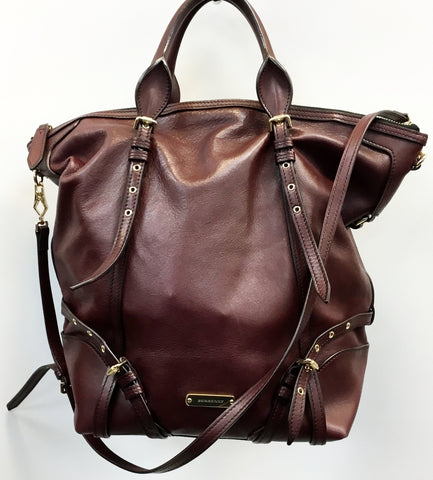 Burberry Plumb / Burg Two Way Leather Jumbo Tote no. ITTREGRO44SCA