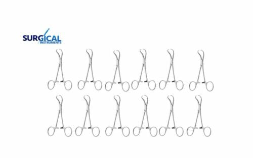 "12 Backhaus Towel Clamp 5.5"" Surgical Dental Veterinary"