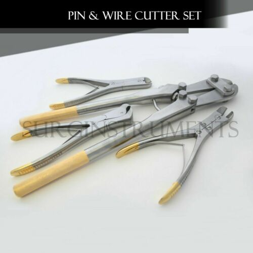 4 PIN & WIRE Cutter Set T/C Jaw Orthopedic Surgical Pliers Veterinary Special