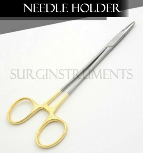 "5 T/C Mayo Hegar Needle Holder 7"" Serrated Dental Surgical"