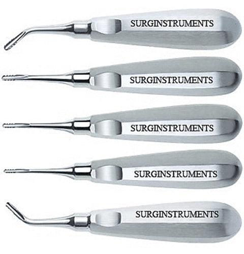 5 Serrated Elevators Set Dental Extraction Instruments