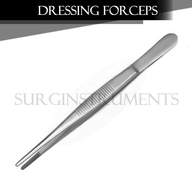 "12 Thumb Dressing Forceps 4.5 Serrated Veterinary Instruments Economy 4.50"" 4.5"