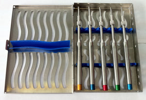 5 Sinus Osteotomes Set Straight Implant Dental Instruments Elevators W/Free Cass