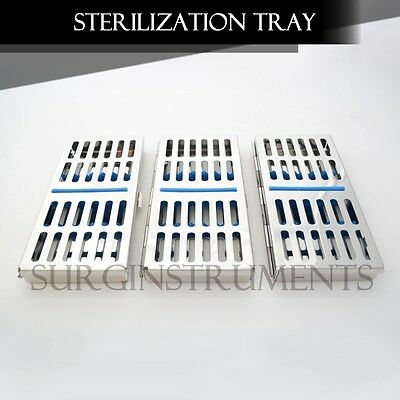 3 Trays Sterilization Tray Sterile Dental Instruments Cassettes, Small Parts