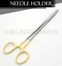"5 T/C Mayo Hegar Needle Holder 12"" Serrated Dental Surgical"