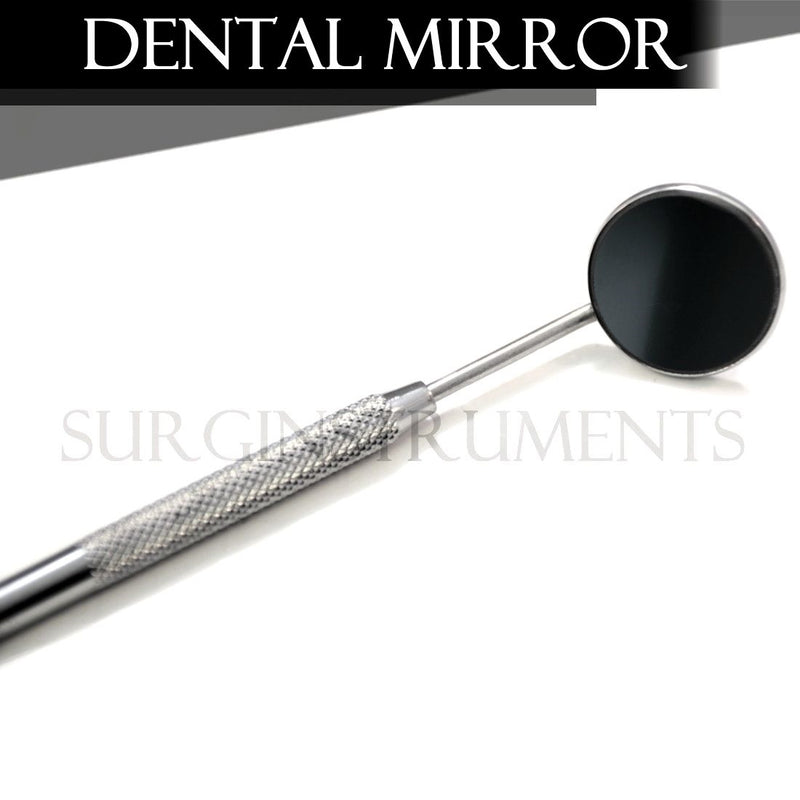 100 Front Surface Dental Mirrors #5 Complete With Handle Surgical Instruments