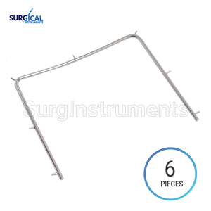 "6 pcs Rubber Dam Frame Small 4"" x 4"" Dental Instruments"
