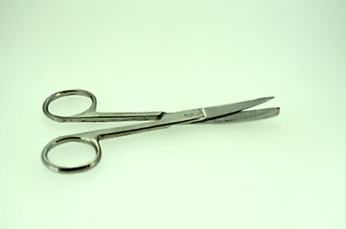 "4.5"" Operating Scissors Sharp / Blunt Curved Surgical Instruments"