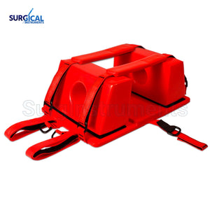 Emergency Spine Board Reusable Head Immobilizer for EMS/EMT Red Color