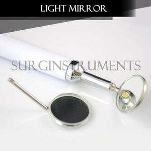 Dental Mirror with Light (White) Dental Instruments