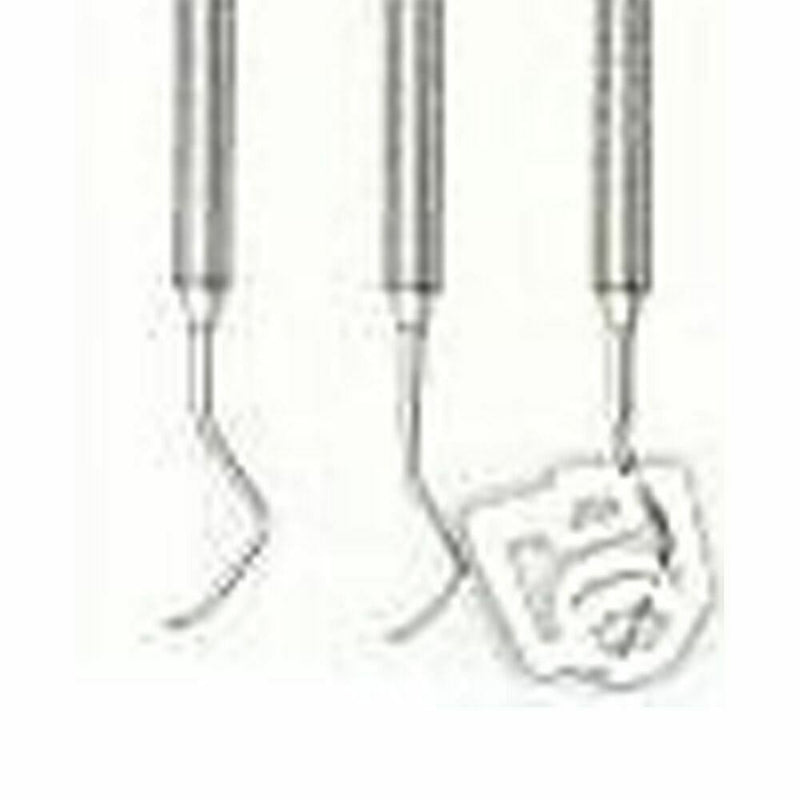 3 Columbia Curette Surgical Dentist Dental Instruments 4L/4R, 13/14, 2L/2R